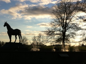 Man O'War Statue and Memorial at the Kentucky Horse Park