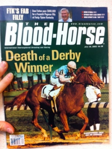 Cover of The Blood-Horse exposing Ferdinand's death-by-slaughter in Japan